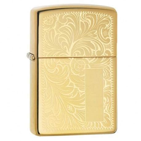Zippo venetian Brass goud