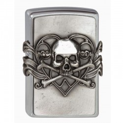 Zippo Anne Stokes Skull with Heart