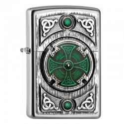 Zippo Celtic Green Cross