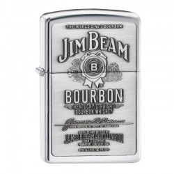 Zippo Jim Beam Label Chrome