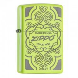 Zippo neon yellow lux