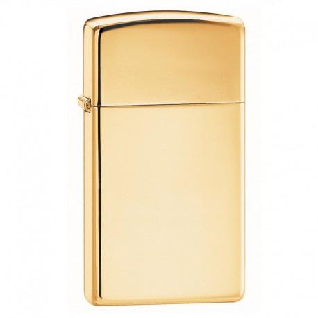 Zippo Slim Brass Gold High Polished Slim