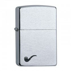 Zippo Pipe Lighter Chrome Brushed