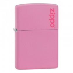 Zippo Regular Roze Pink Matte Logo
