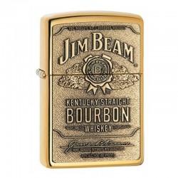 Zippo Jim Beam Label Brass