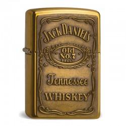 Zippo Jack Daniels Label Brass