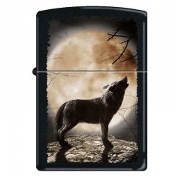 Zippo Wolf Howling to the Moon