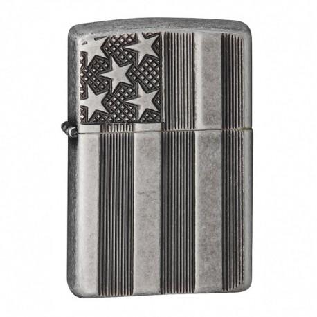 Zippo Armor Deep Carved US Flag