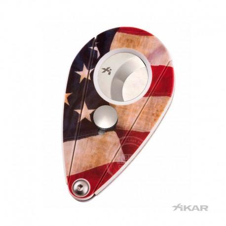 XI2 sigarenknipper Carbon USA vlag