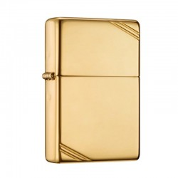 Zippo Vintage High polished brass gold