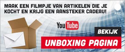 aansteker cadeau bij een unboxing video