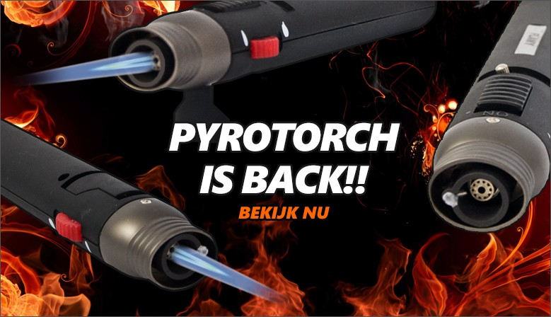 Pyrotorch Pen torch is terug!