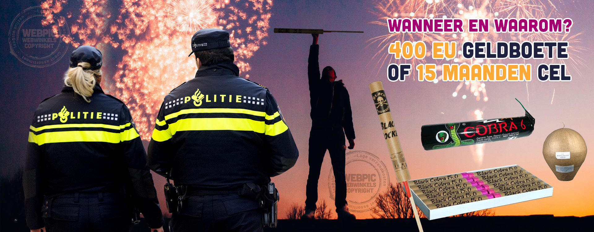 Boetes of Celstraf legaal en illegaal vuurwerk